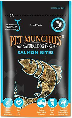 £4.49 • Buy Pet Munchies 100% Natural Salmon Bites 90g (Dog Treats Fish Complementary Food)