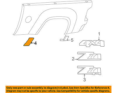 £26.95 • Buy GM OEM Pick Up Box Bed-Stone Deflector Guard Right 15952194
