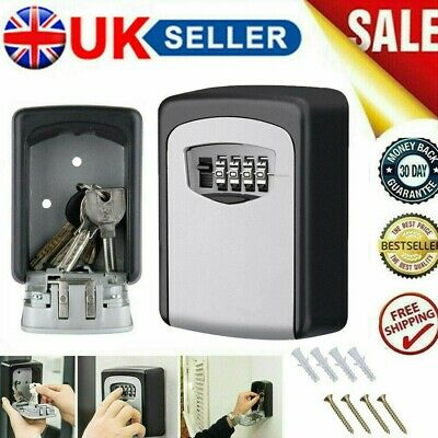4 Digit Outdoor Storage High Security Wall Mounted Key Safe Box Code Lock UK • 9.99£