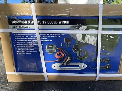 AU385 • Buy Kings Domin8R 4WD Xtreme 12000lb Winch Rope Boat Wireless Remote 4x4 Car Trailer