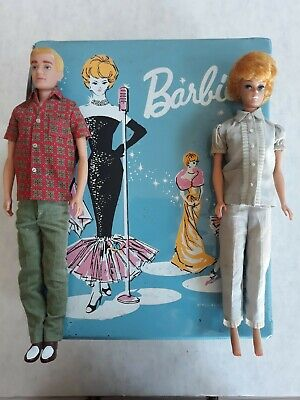 $ CDN77.70 • Buy Vintage Barbie Ponytail Case 1962 With Barbie And Ken Lot