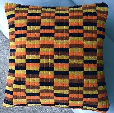 London Underground / Buses: District Line D Stock Tube Moquette Cushion • 35£