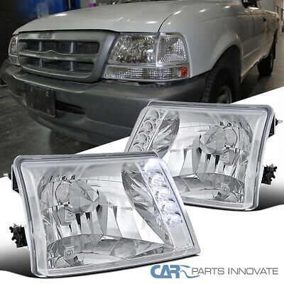 $42.95 • Buy For 98-00 Ford Ranger Pickup Clear LED Headlights Head Lights Lamps Left+Right