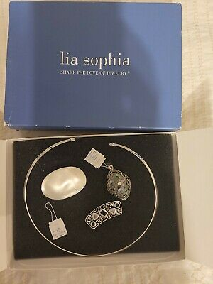 $ CDN18.83 • Buy Lia Sophoa Slide Necklace With 3 Pendants - New And Used