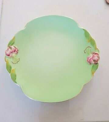 $ CDN46.65 • Buy Royal Winton Grimwades Tigerlilly Cake Serving Plate Green