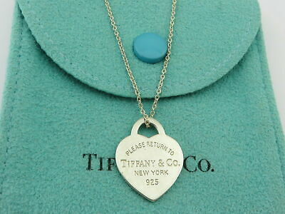 AU150 • Buy TIFFANY & CO Sterling Silver Return To Tiffany Small Heart Tag Pendant Necklace