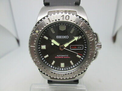 $ CDN45.12 • Buy Seiko Skxa49 Black Knight 7s26-01x0 Daydate Ss Automatic Mens Diver Watch