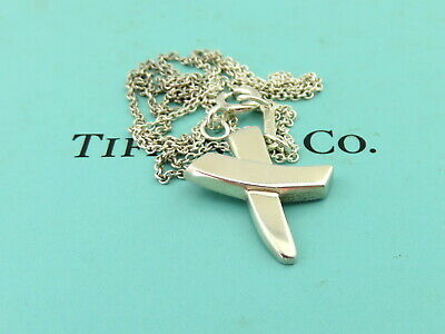 AU145 • Buy TIFFANY & CO Sterling Silver Kiss X Pendant Necklace
