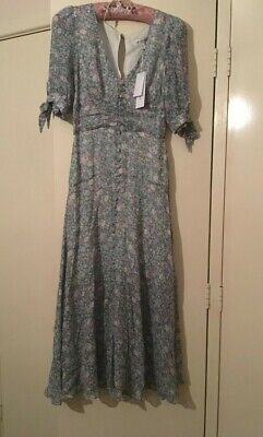 AU45 • Buy Forever New Blue/green Floral Dress Size 6