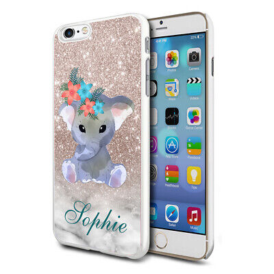 AU8.82 • Buy Personalised Baby Elephant Phone Case Cover For Apple Samsung Initial Name