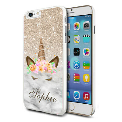 AU8.82 • Buy Personalised Marble Unicorn Phone Case Cover For Apple Samsung Initial Name