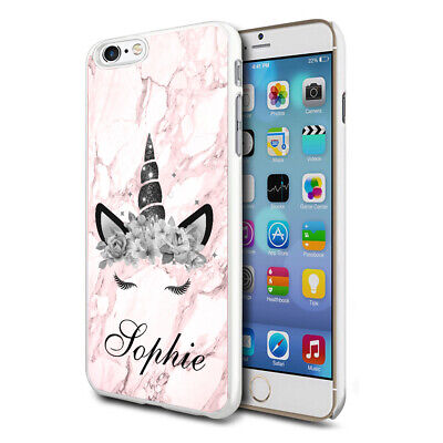 AU8.82 • Buy Personalised Pink Marble Unicorn Phone Case Cover For Apple Samsung Initial Name