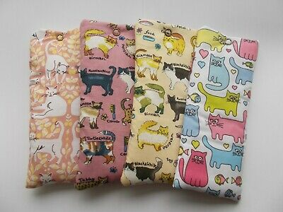 £3.75 • Buy Handmade Soft Padded Spectacle Pouch / Glasses Case - CATS Designs Cottons