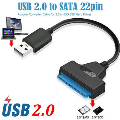 AU12.08 • Buy USB 2.0 To SATA 22 Pin Laptop Hard Disk Drive SSD Adapter Converter Cable Z ERH