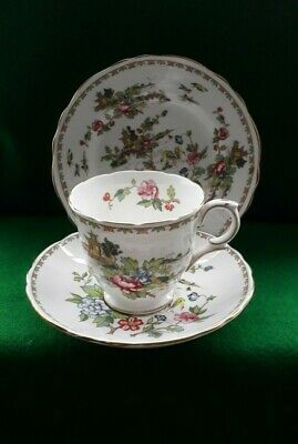 £8.99 • Buy Crown Staffordshire Pagoda Trio Tea Cup, Saucer And Plate VGC
