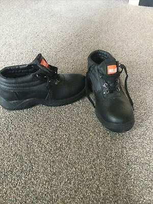 AU8.93 • Buy Mens Black Work/safety Shoes With Steel Toe Cap, New, Size 8/42.