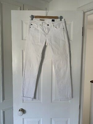 $ CDN51.84 • Buy Adriano Goldschmied White Jeans Size 26 Cigarette Roll Up Style From Harrods