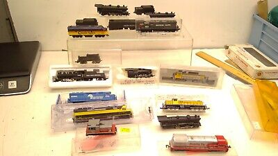 AU103.39 • Buy HUGE Vintage N Scale-Locomotive Repair Lot Of 13 Engines  (N33)