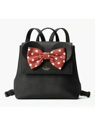 $ CDN235.60 • Buy New Kate Spade Disney Minnie Mouse Small Neema Backpack Purse Bag Black PXRU8273