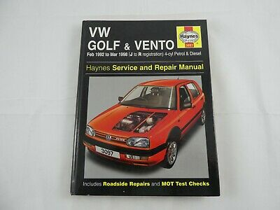 VW Golf And Vento Service And Repair Manual: Petrol And Diesel 1992 To 1998... • 10£