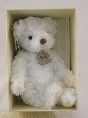 The Harrods Classic Bear Collection.  Small White Teddy Bear • 16.99£