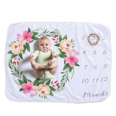 Newborn's Baby Monthly Growth Soft Blankets Photography Prop Background DS • 9.28£