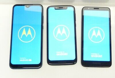 $ CDN150.37 • Buy LOT OF 3 Motorola Moto G7 Play  MOTO E6  MOTO E CellPhone AS IS /CH26/12