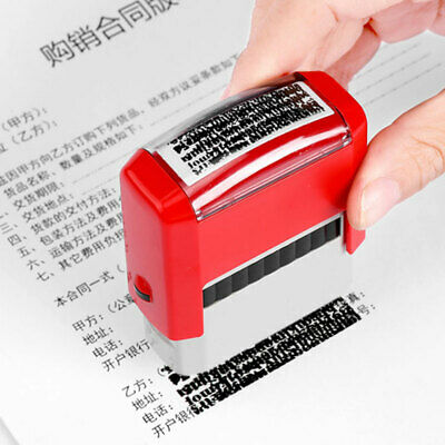 £5.43 • Buy Office Work DIY Personalised Rubber Stamp Kit Self Inking Business Address Name