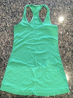$ CDN30 • Buy Lululemon Cool Racerback Green Tank Top Size 4 XS Yoga Reversible