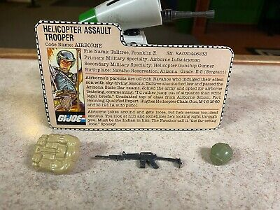 $ CDN0.01 • Buy Vintage GI-JOE COBRA Parts Lot & File Card 1983 AIRBORNE (v1) HELICOPTER ASSAULT