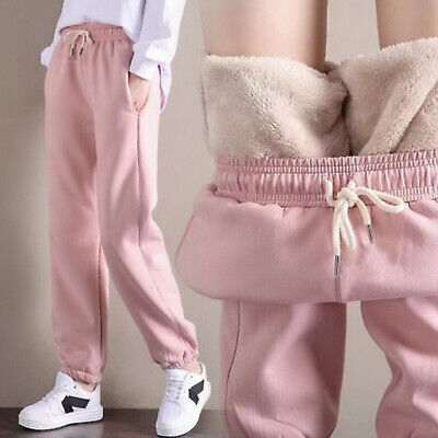 £9.76 • Buy Thermal Fleece Lined Sweatpants Thick Women Jogger Pants Girls W/ Pockets