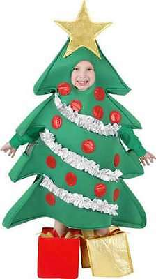 NEW Child Christmas Holiday Tree Costume With Shoe Cover Presents Small 4-6 NIP • 24.62£