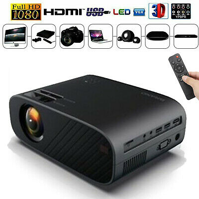 12000 Lumens 1080P 3D Home LED Projector Video Home Theater HDMI/USB/SD/VGA UK • 58.49£