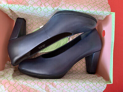 AU99.99 • Buy Sz 39.5 Or 40 New Ziera Tilly Navy Leather Heels