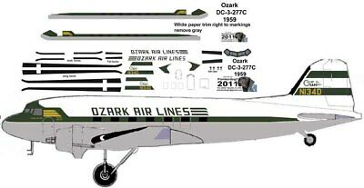 Ozark Early Livery Douglas DC-3 Airliner Pointerdog7 Decals For Minicraft Kits  • 7.25£