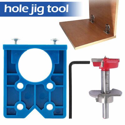 £7.59 • Buy 35mm Forstner Bore Drill Bit Concealed Hinge Wood Hole Saw Cutter Kit Tools J0
