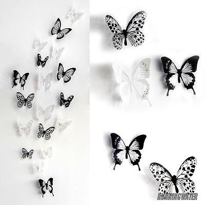 £4.29 • Buy 18x 3D Butterfly Wall Stickers Art Decals Home All Room Decorations Decor Kids J