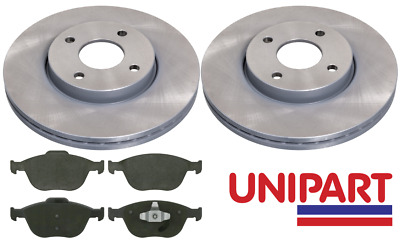 £49.57 • Buy For Ford - Fiesta MK5 ST150 2005-2008 Front 278mm Brake Discs And Pads Unipart