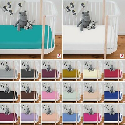 £5.90 • Buy Luxury Cot Bed Fitted Sheets 100% Poly Cotton Soft Fitted Sheets 70 Cm X 140 Cm
