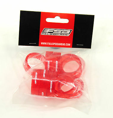 AU16.53 • Buy SET OF 10 FSA Transparent Red HEADSET SPACERS 1-1/8  X 10mm