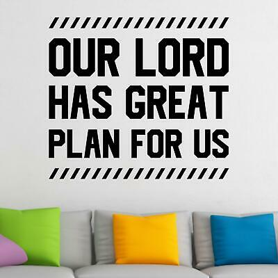 $30.80 • Buy Our Lord Has Great Plan For Us Wall Sticker Decal  Quote Christian Bible Décor