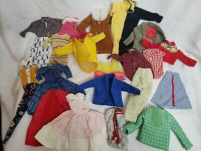 $ CDN82.70 • Buy Vintage Barbie Clothes Lot Of 25 Mostly Tagged Dresses Lingerie Shirts Clone