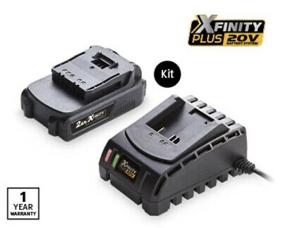 AU119 • Buy Xfinity 2.0Ah 20V Battery And Compatible Charger Aldi Gardenline Workzone