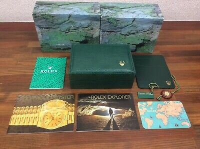 $ CDN604.15 • Buy  Rolex Explorer 16570 Watch Box Set 1998 Booklets Tags Holder Card + Free Post