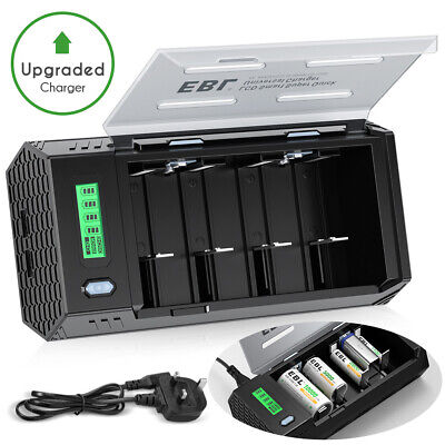 £16.29 • Buy EBL LCD Smart Battery Charger For AAA AA C D 9V Ni-MH Ni-CD Rechargeable Battey