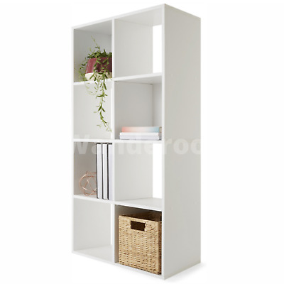 AU48 • Buy 8 Cube Storage Shelf DIY Cabinet Cupboard Organizer Bookshelf Display Unit White