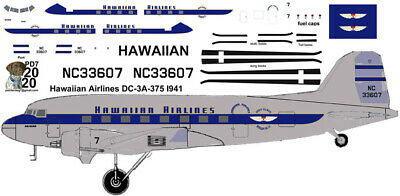 Hawaiian Delivery Douglas DC-3 Airliner Pointerdog7 Decals For Minicraft Kits  • 7.25£