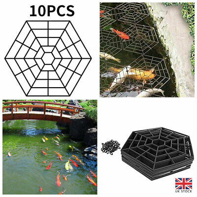 £7.77 • Buy 10 Pond & Fish Guard Protectors Plastic Floating Net Rings Protective Cover UK
