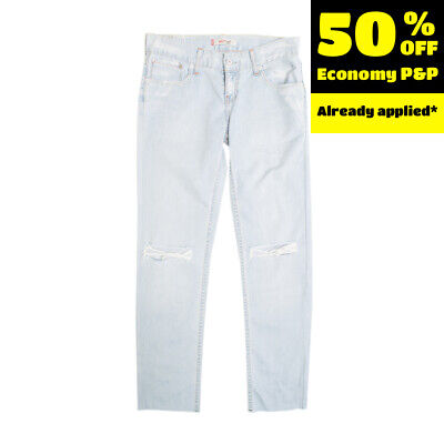 $ CDN1.71 • Buy RRP €120 LEVI'S RED TAB Jeans W27 L34 Ripped Style Low Waist Straight Fit
