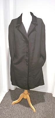 £47.49 • Buy Beautiful Vintage Black Quilted Coat By Bob Mackie With Velvet Trim Sz 24W